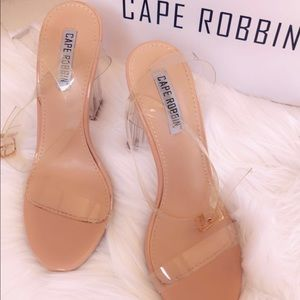 Clear heel and strap